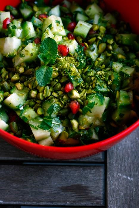 Gurken-Granatapfel-Salat