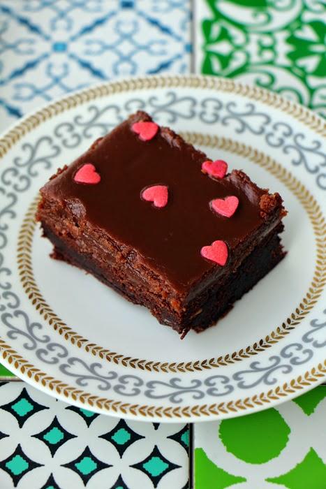 Brownies mit Erdnussbutter-Topping