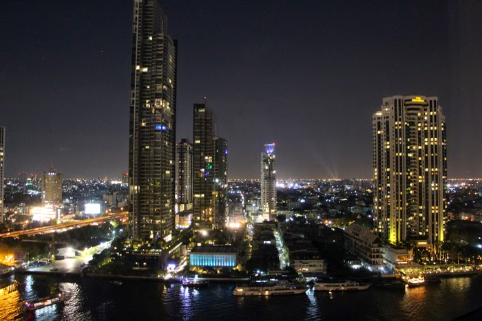 Shangri-La View Bangkok River at night