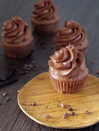 Schoko Rhabarber Cupcakes