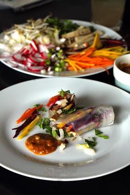 Sommerrollen mit Thai Erdnuss-Sauce