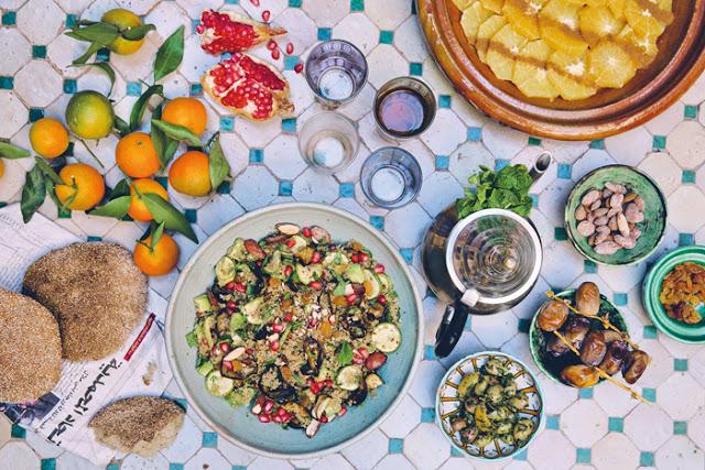 Die grüne Küche auf Reisen Buffet
