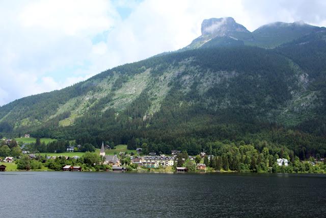 Altausser See Blick aufs Dorf