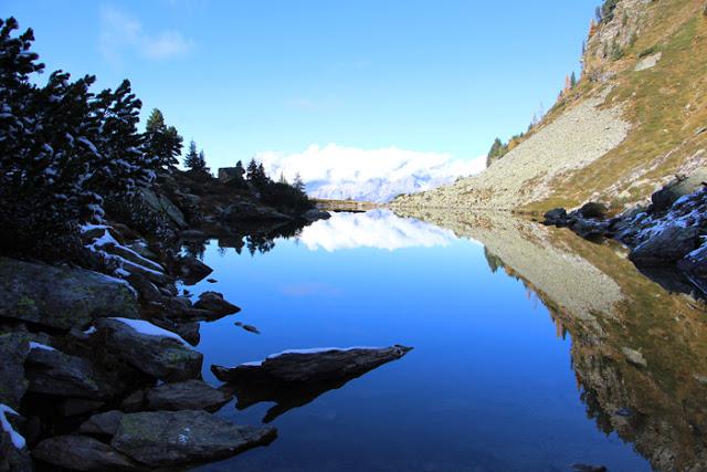 Spiegelung des Dachstein Gebirges im Spiegelsee