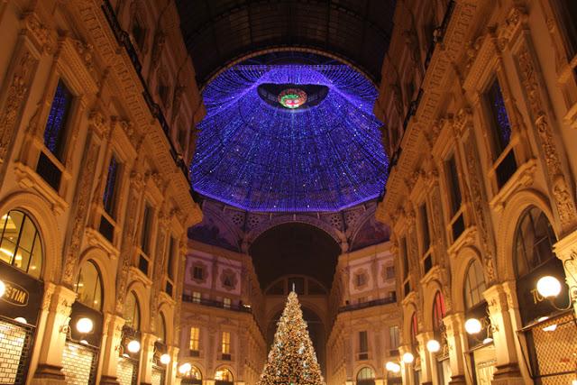 Galleria Vittorio Emanuele II - Weihnachtsbeleuchtung