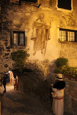 Fresken am Künstlerhaus in Canale die Tenno, Trentino