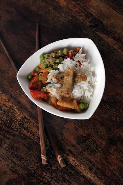 Scharfes Thai-Curry mit Seitan