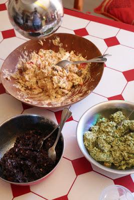 Tapenade, Käsecreme und Cashewcreme