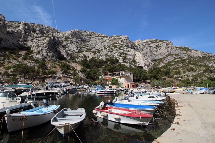 Hafen in der Calanque Morgiou