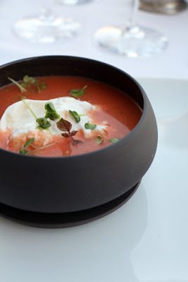 Tomatensuppe im Restaurant Le Provencal, Giens