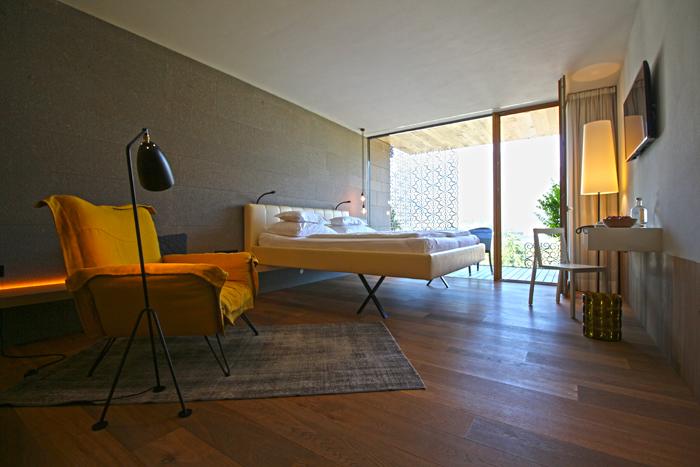 Balkon-Zimmer im Designhotel Muchele