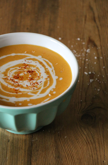 Linsen-Süsskartoffel-Suppe