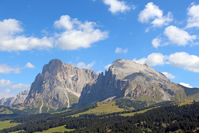 Blick auf die Berge, Seiser Alm