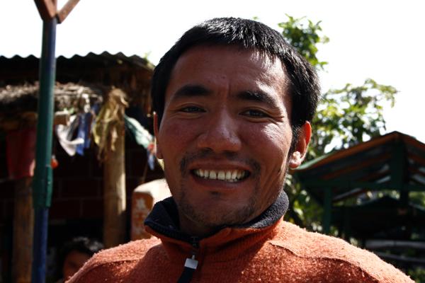 Tibetischer Mönch in Nepal