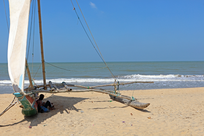 Katamaran in Negombo, Sri Lanka