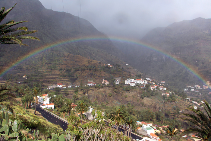 Regenbogen über dem Valle Gran Rey