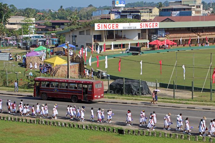 Blick auf das Stadion von Galle