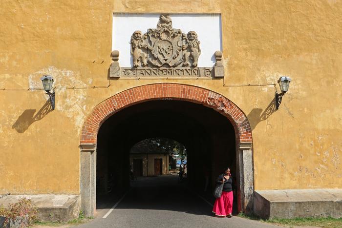Prächtiges Eingangstor von Galle Fort
