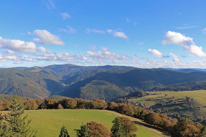 Blick vom Aussichtsturm auf dem Schauinsland