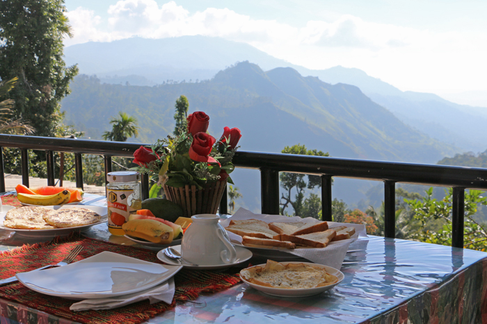 Frühstück mit Blick auf die Ella Gap
