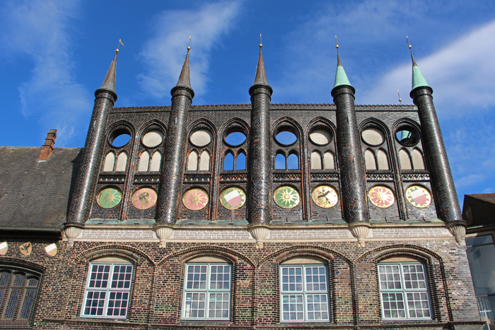 Rathaus Lübeck in Backsteingotik