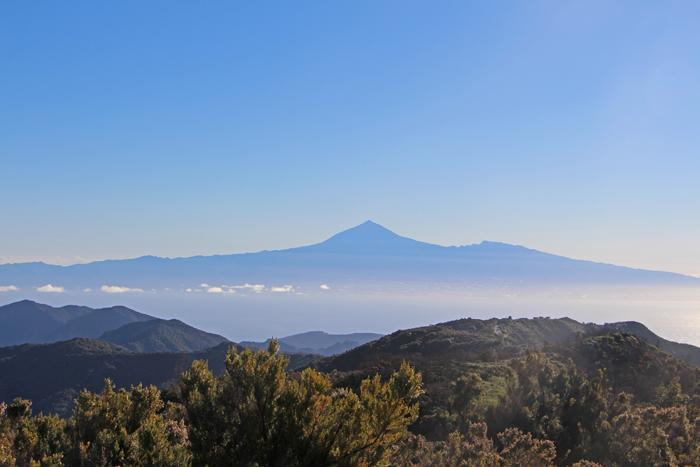 Wanderung auf La Gomera, Blick auf den Teide