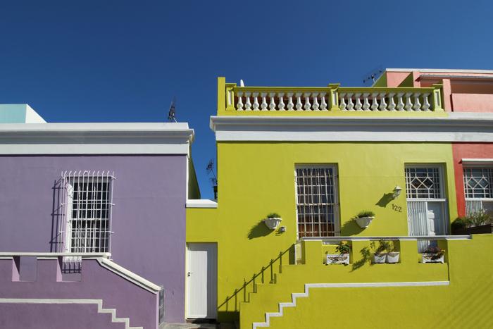 Bunte Häuser in Bo-Kaap, Kapstadt, Südafrika