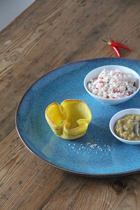 Sri Lankan Breakfast: Pol Sambol, Hoppers, Dhal
