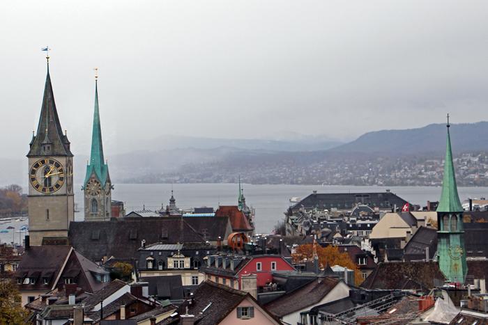 Zürich - Blick auf den Zürichsee