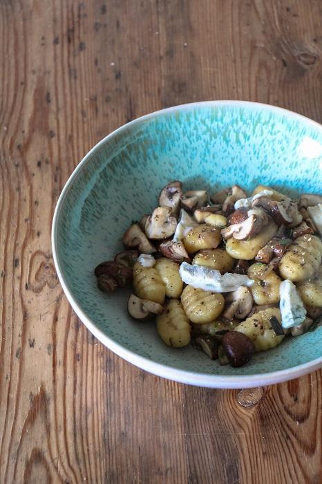 Gnocchi mit Champignons und Gorgonzola