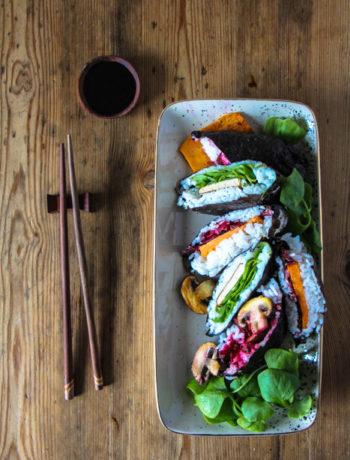 Onigirazu veganes Sushi Sandwich