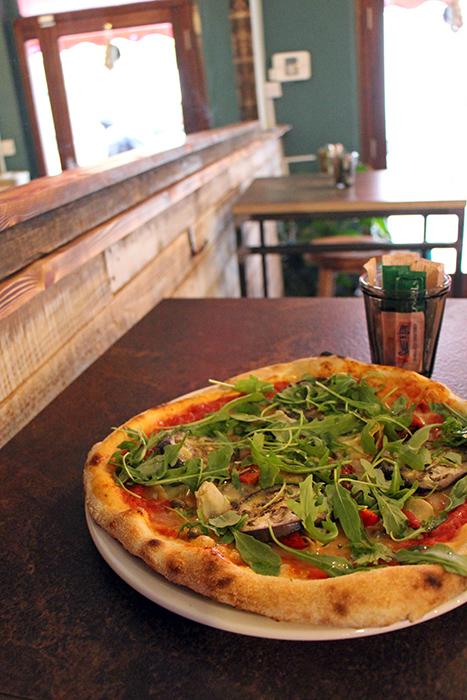 Vegane Pizza im Arabella's