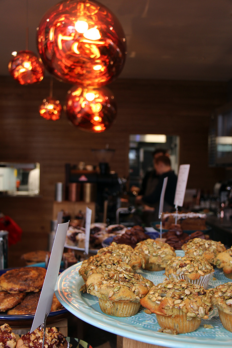 Muffins bei Dough Lover, Brighton