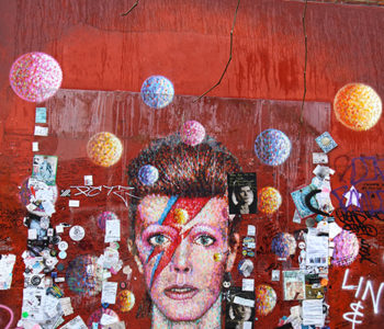 David Bowie Memorial Gemälde in Brixton, London