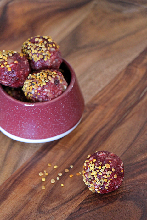Himbeer Rote Bete Energy Balls