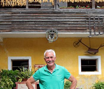 Slow Food Bauer Josef Brandstätter auf seinem Hof im Gailtal, Kärnten