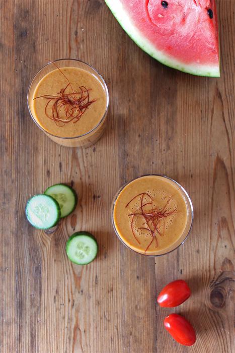 Fruchtige Wassermelonen-Gazpacho