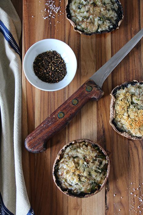 Gegrillte Portobello-Pilze