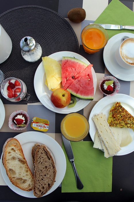 Frühstück im Hotel Santo Stefano, Elba