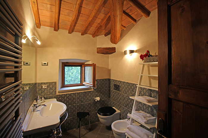 Badezimmer Ferienhaus Villa Toskana