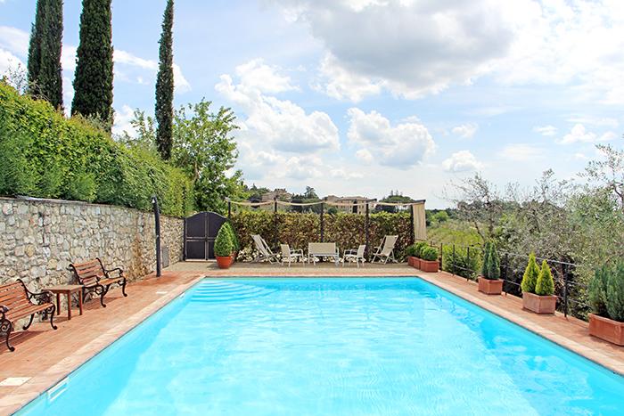 Pool im Ferienhaus im Chianti, Italien