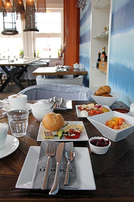 Frühstück im Hotel 54 Grad Nord