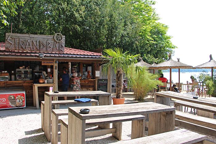 Strandbar Zum Fischer in Stegen, Ammersee