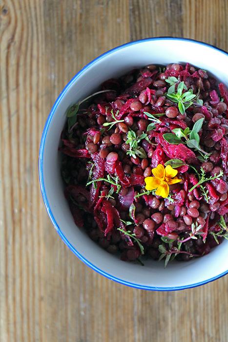 Rote-Bete-Salat mit Linsen