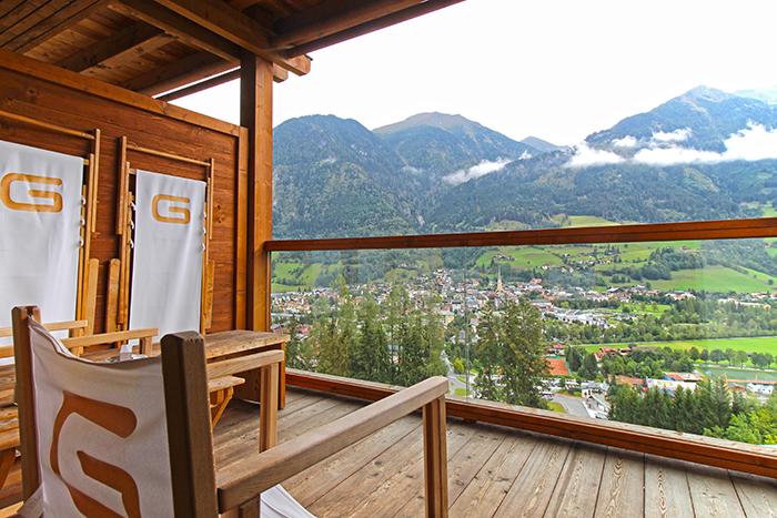 Bergblick vom Balkon im Das Goldberg