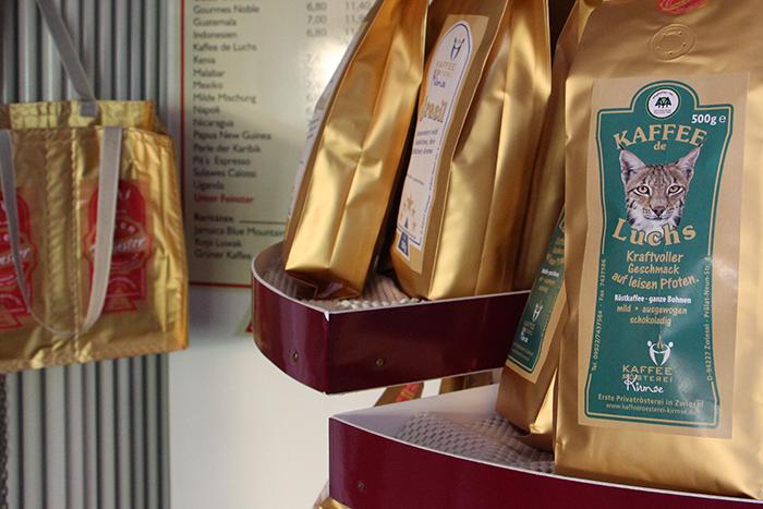 Kaffee de Luchs aus der Kaffeerösterei Kirmse in Zwiesel