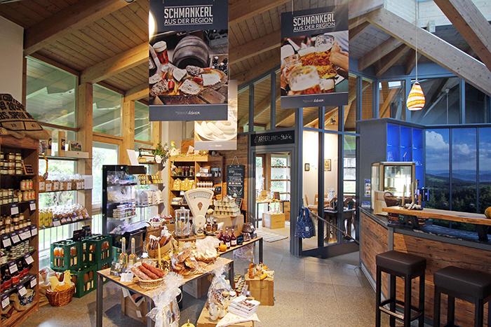 Kulinarisches Schaufenster in Zwiesel, regionale Produkte Arberland