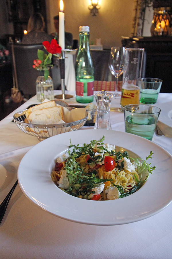 Hauptgang beim Dinner auf Schloss Mittersill