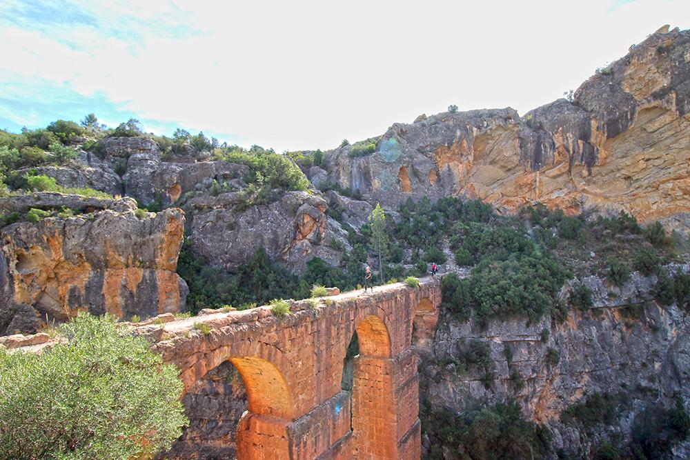 Aquädukt Pena Cortada in der Provinz Valencia, Spanien