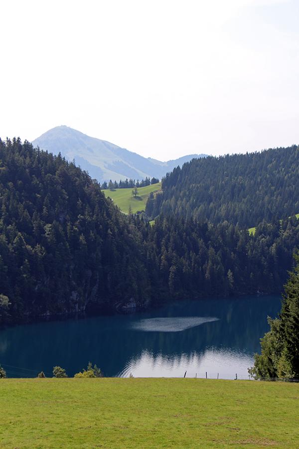 Ausblick am Wanderweg 45a Richtung Walleralm, Tirol